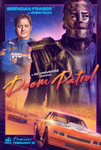 Doom Patrol - Official Images - Character Posters - Brendan Fraser - Robotman - 01