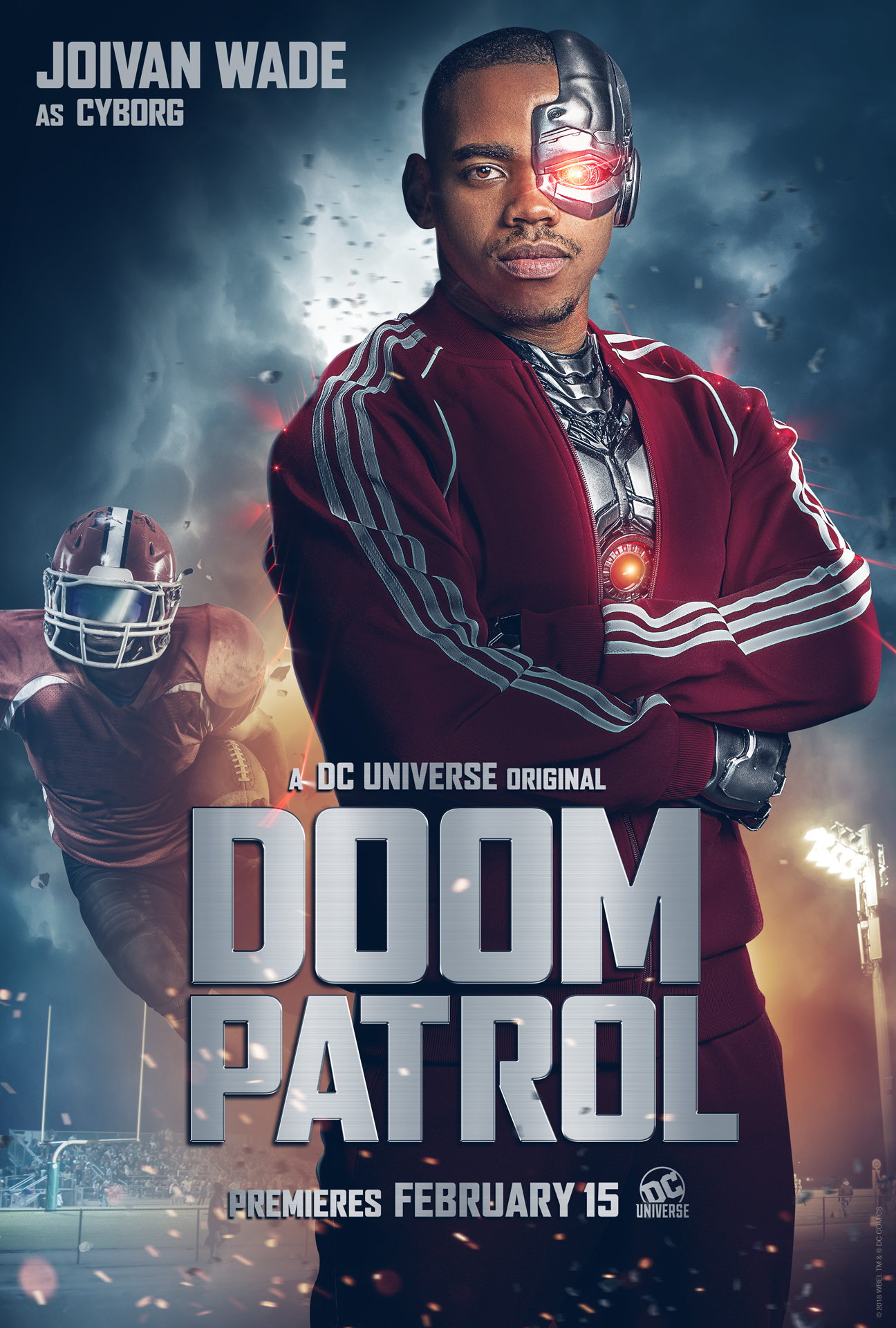 Behind The Scenes Photo Gives Us A New Look At Cyborg In Doom Patrol