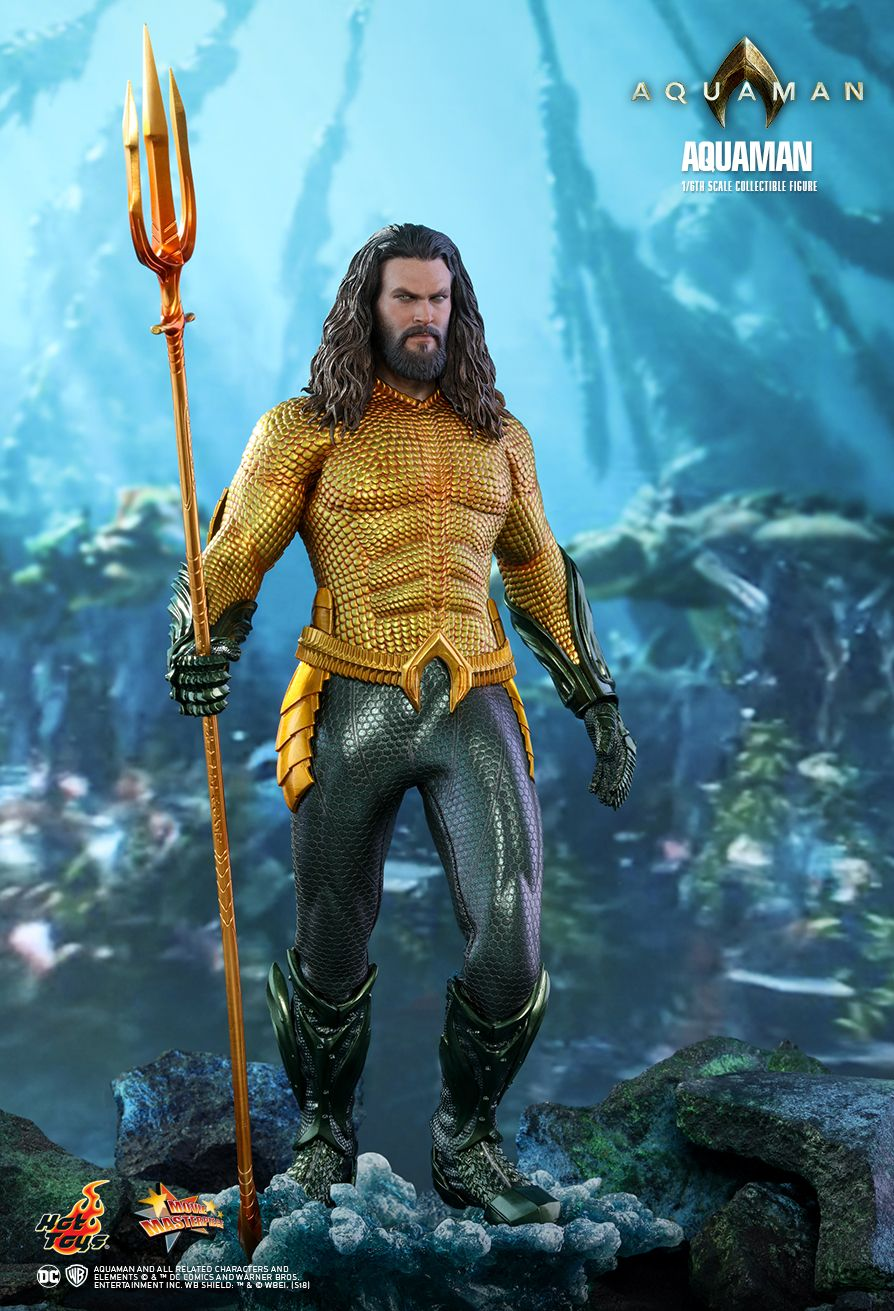 Shazam Aquaman Get New Magazine Covers: Aquaman Swims Into The Hot Toys 1/6 Scale Figure Line