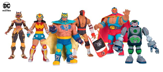DC Collectibles - Toy Fair 2019 - Lucha Explosiva - Group - 01