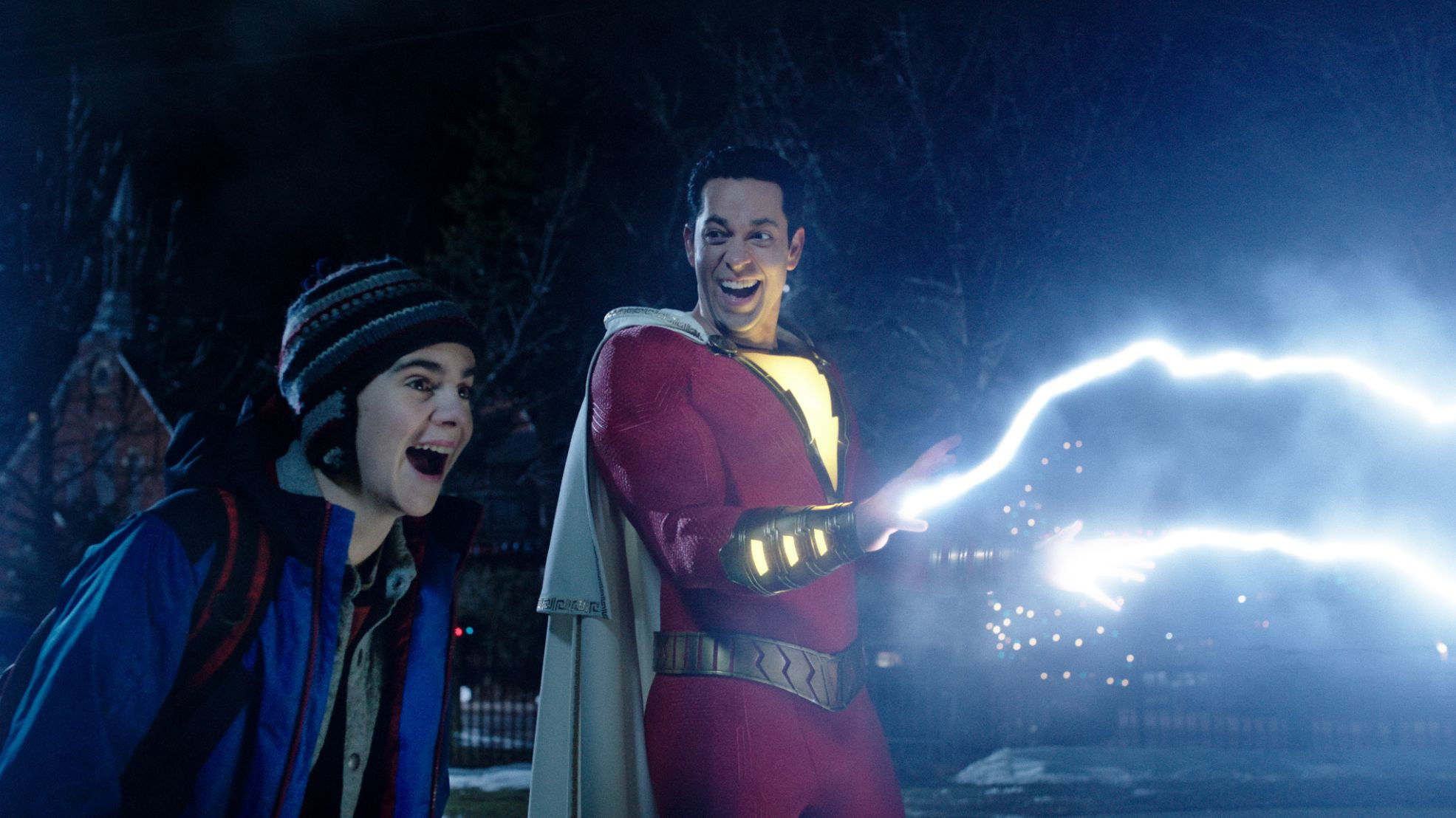 Shazam Review- Billy and Freddy discover electricity