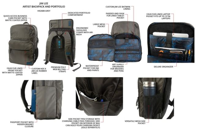 HEX x Jim Lee - Artists Backpack - 04