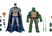 DC Collectibles - SDCC 2019 Exclusives - Batman vs TMNT - Alfred and Michelangelo - Featured