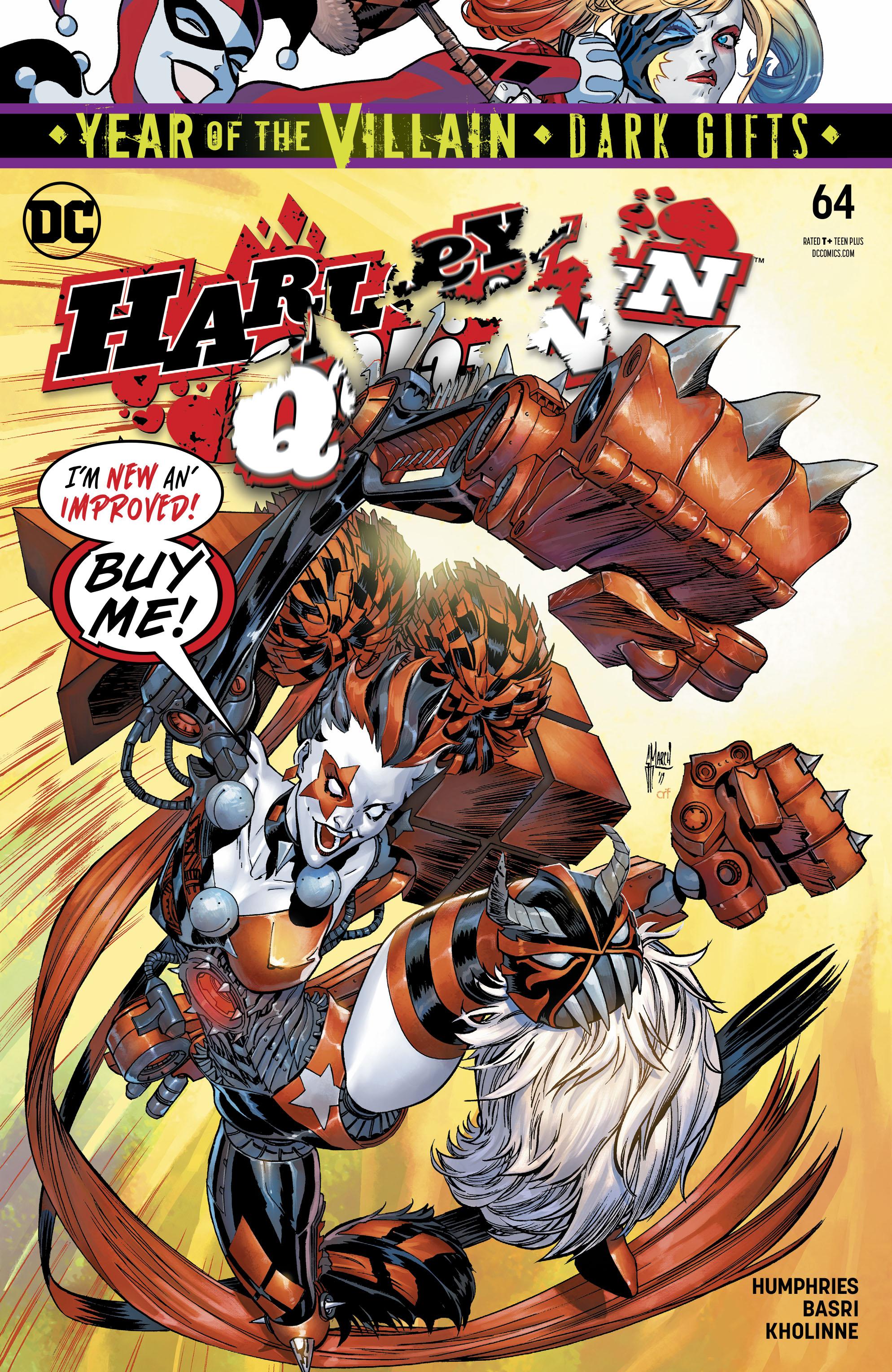 DC COMICS//2019 GUILLEM MARCH MAIN COVER HARLEY QUINN #64