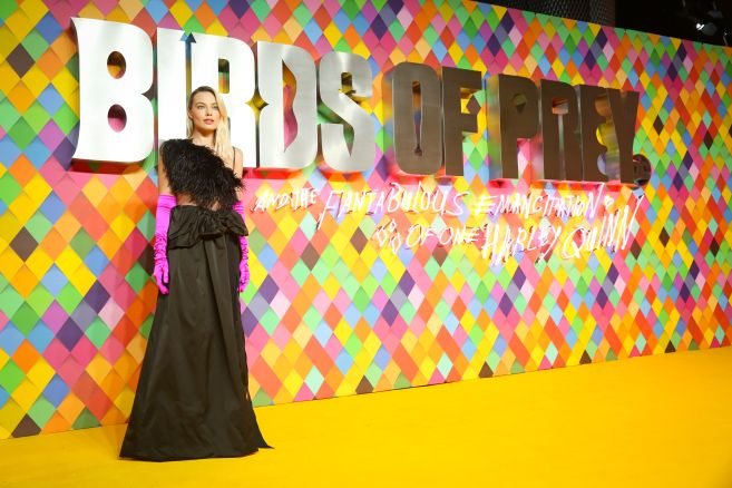 Margot Robbie attends the world premiere for Birds of Prey (and The Fantabulous Emancipation of One Harley Quinn) in cinemas February 7th.