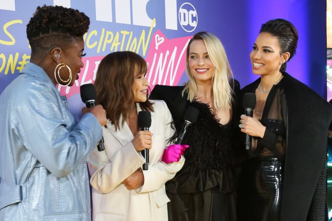 Rosie Perez, Margot Robbie and Jurnee Smollett-Bell attend the world premiere for Birds of Prey (and The Fantabulous Emancipation of One Harley Quinn) in cinemas February 7th.