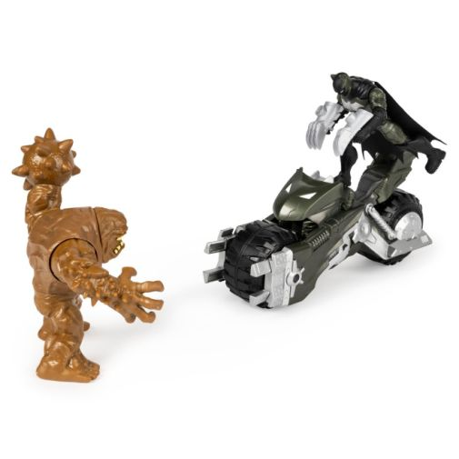 Spin Master - DC - Batman 4-Inch Batcycle with Batman and Clayface Figures - 03