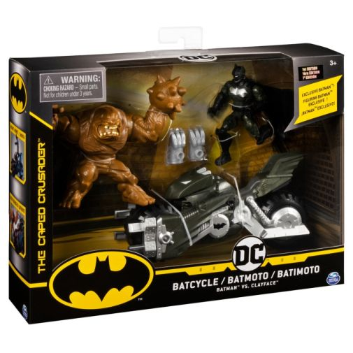Spin Master - DC - Batman 4-Inch Batcycle with Batman and Clayface Figures - 05