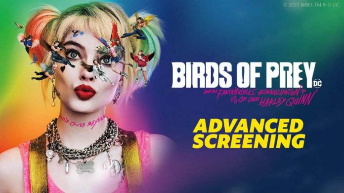 birds of prey advanced screenings