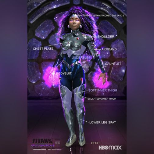 Titans - Season 3 - Blackfire - Concept Art - 02