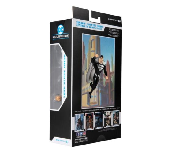 McFarlane Toys - DC Multiverse - Superman The Animated Series - Superman - Black Suit - 10