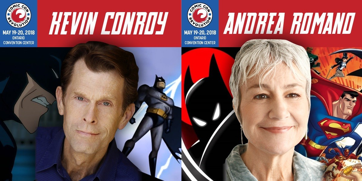 Conroy and Romano at Comic Con Revolution 2018