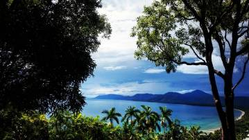 a view point in Port Douglas, looking out over the coast.