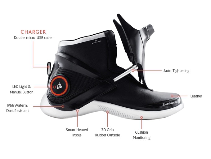 smart shoe self-lacing shoe