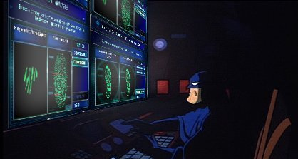 batman detective work at computer