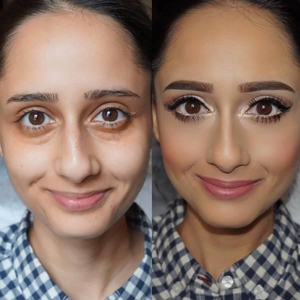 Transformacija uz pomoć šminke (32 fotografije)