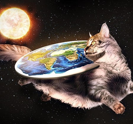 flat earth cat