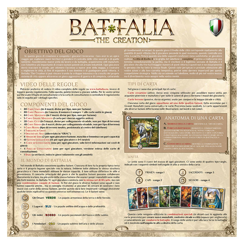 BATTALIA - RULEBOOK OLD - ITALIAN - WEB v1.0
