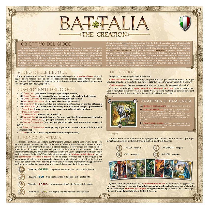 BATTALIA - RULEBOOK OLD - ITALIAN - WEB v1.0