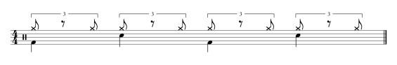 Rythme shuffle de base