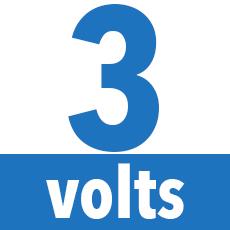3 volts