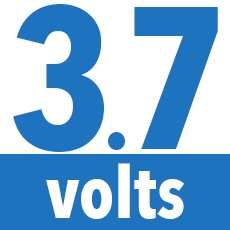 3.7 volts lithium ion