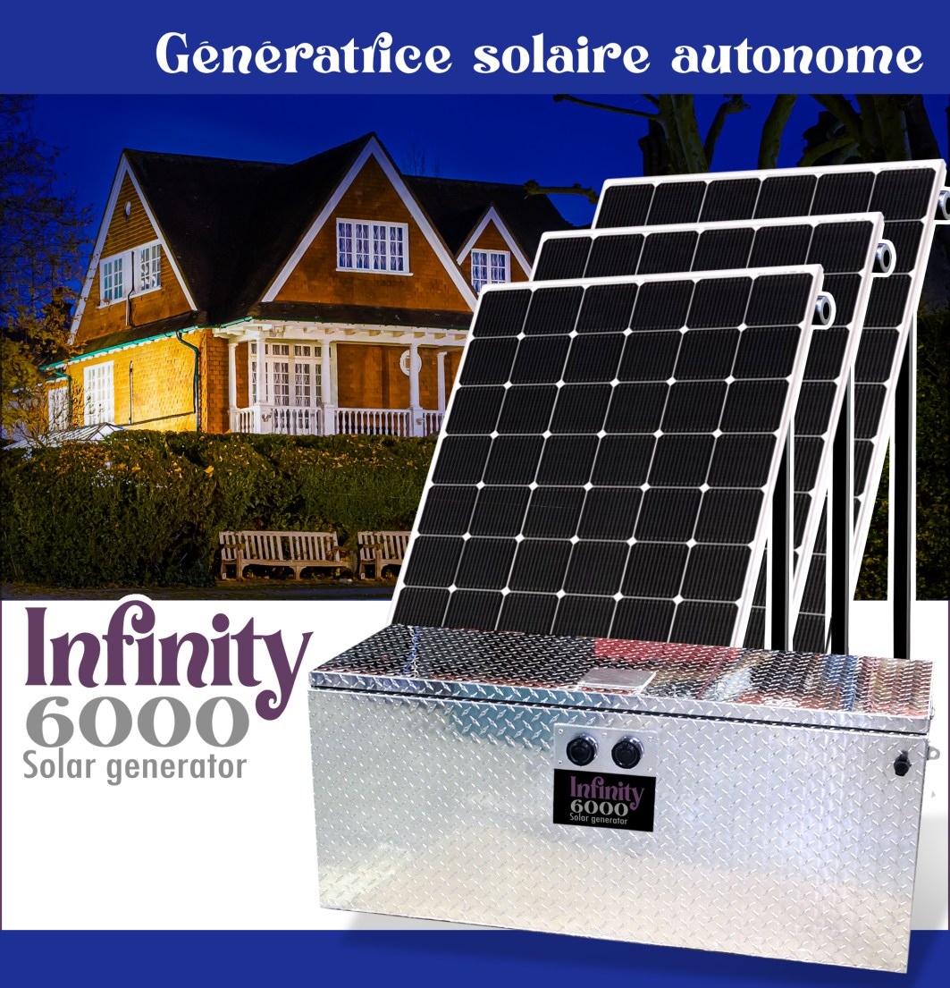 Génératrice solaire infinity 6000