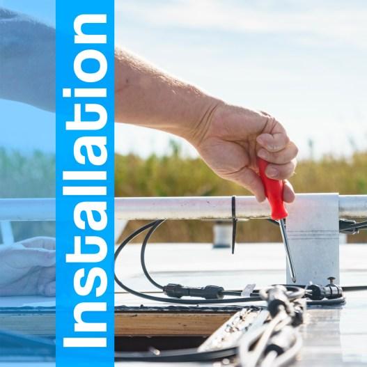 installation-panneau solaire roulotte chalet vr