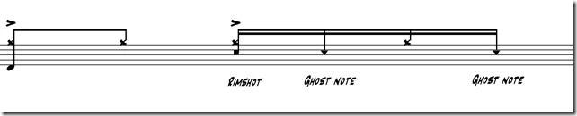 ghost notes deuxième temps 6