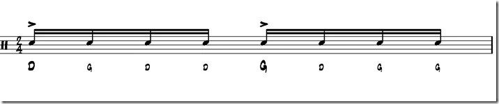 simple paradiddle