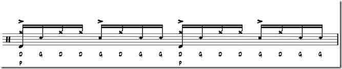 rythme simple paradiddle 3