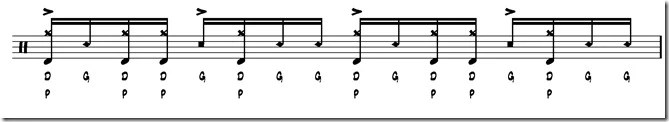 rythme simple paradiddle 7