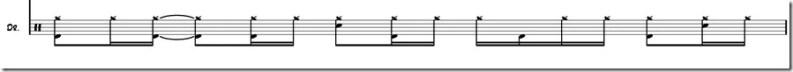 rythme de batterie sans musique variation 1