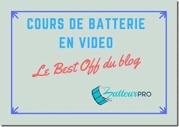 cours de batterie vidéo