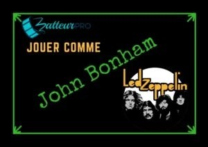 John bonham Led zeppelin batterie