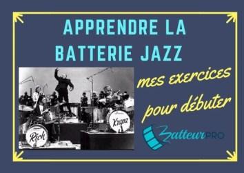 apprendre la batterie jazz