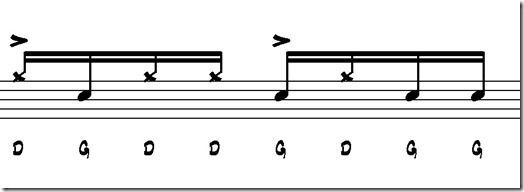 paradiddle accents what is hip