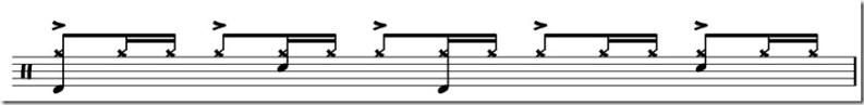 Seven Days rythme base et variation charlet