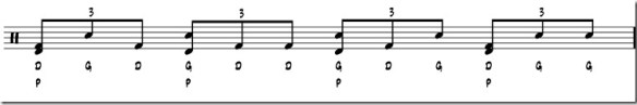 double paradiddle rythme 3