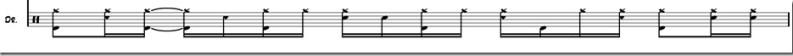 rythme de batterie sans musique variation 2