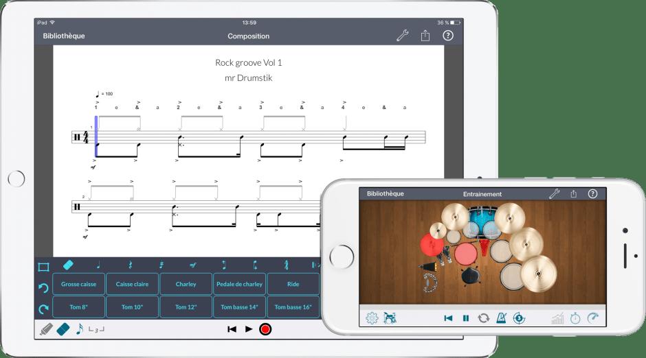 application drumstik ipad iphone