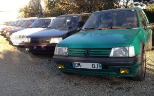 plusieurs-205-GTI-et-rallye