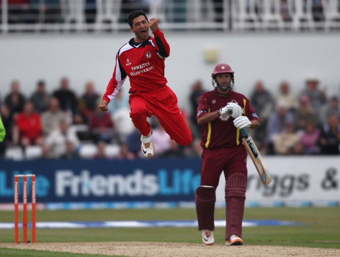 Khan enjoyed great success with Lancashire in 2011