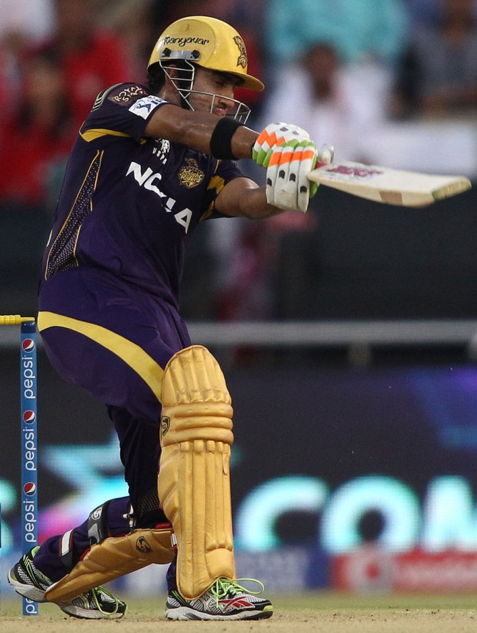 Gambhir hit seven boundaries during his match-winning knock of 63