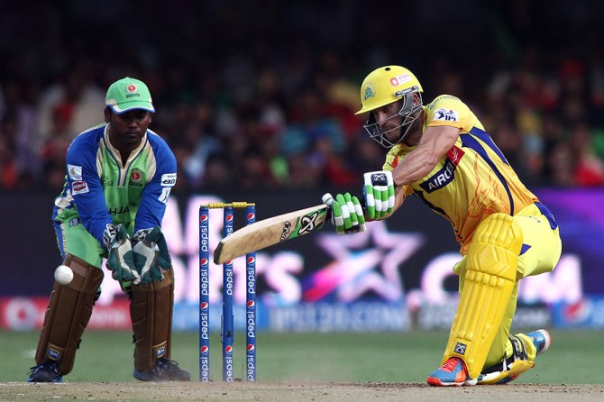 Du Plessis hammered three boundaries and three sixes during his knock of 54