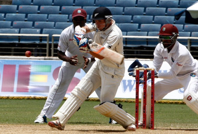 Latham scored half-centuries in the first and second innings