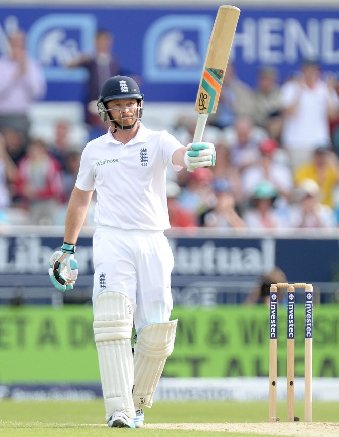Bell scored an entertaining 64 in the first innings of his 100th Test