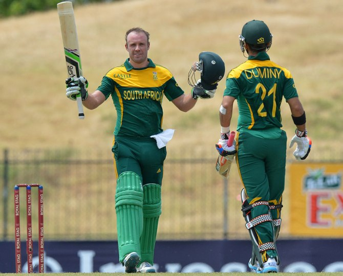 De Villiers struck 11 boundaries and four sixes during his sparkling knock of 108