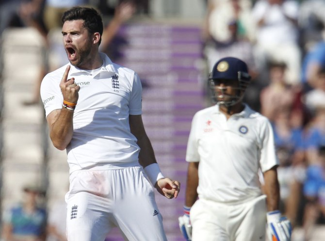 Anderson dismissed Shikhar Dhawan, Kohli and Jadeja