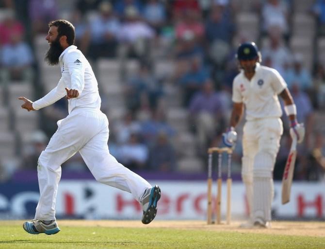 Ali dismissed two of India's most dangerous batsmen in Pujara and Kohli